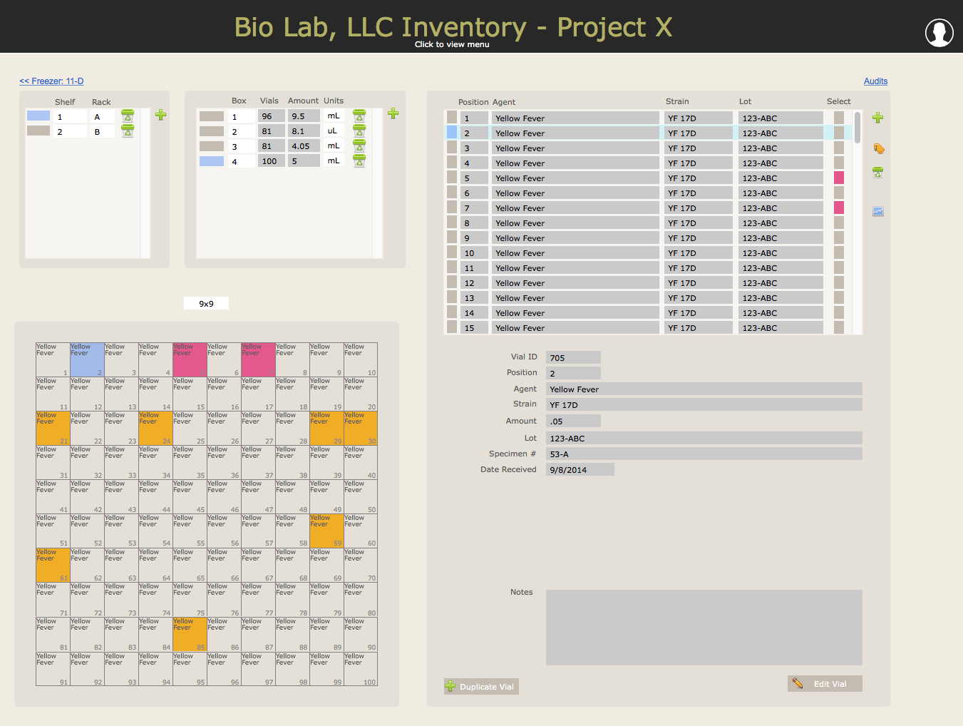 Laboratory Inventory Software Preview