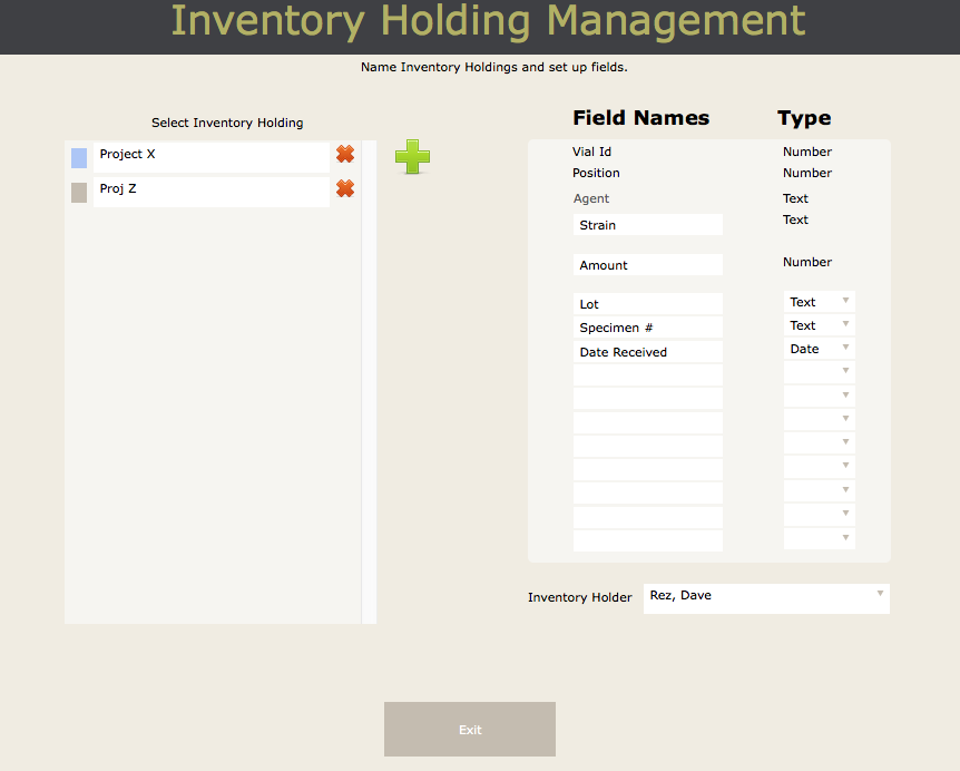 Inventory Holdings Tour